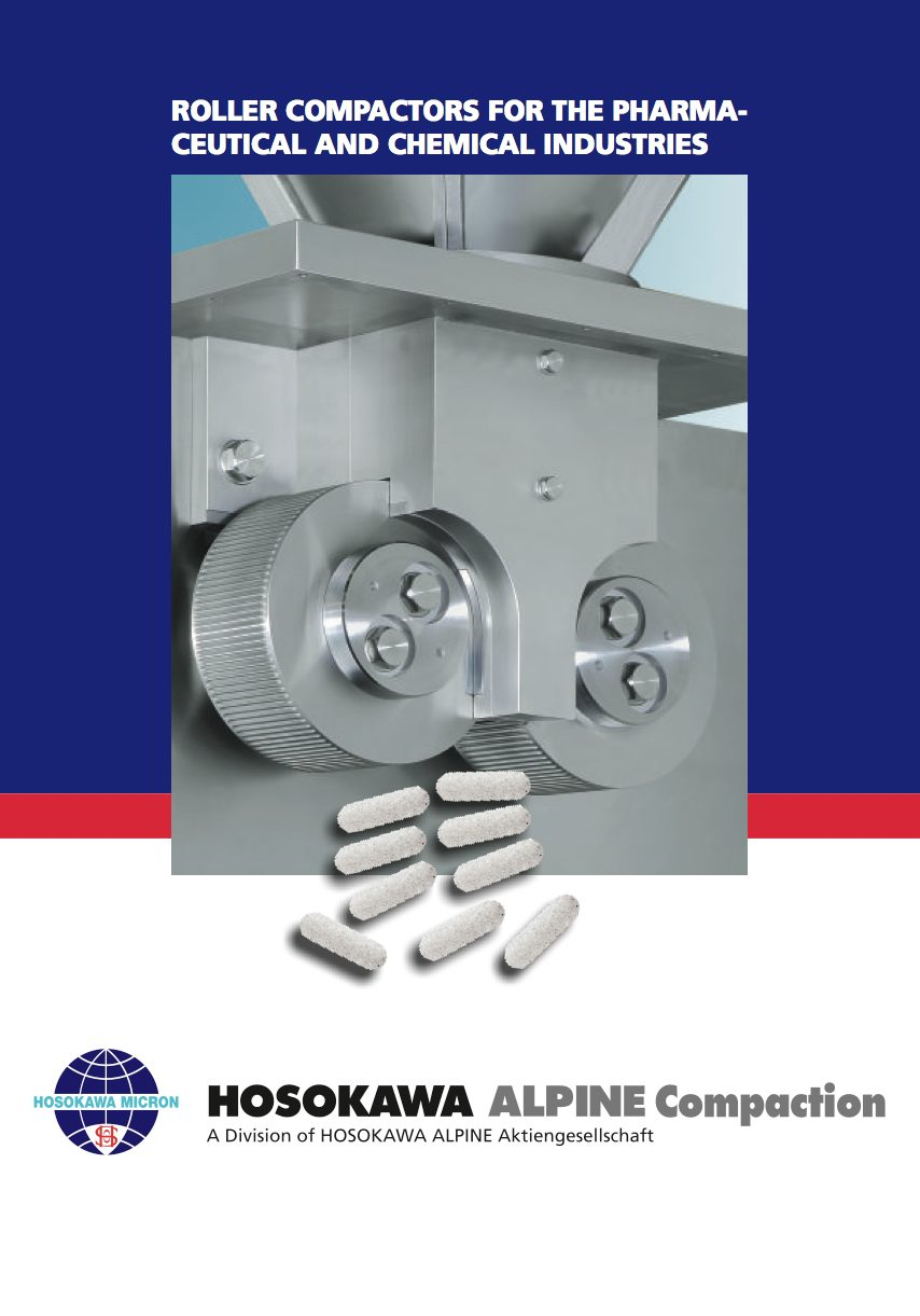 Roller Compactors for Pharmaceutical