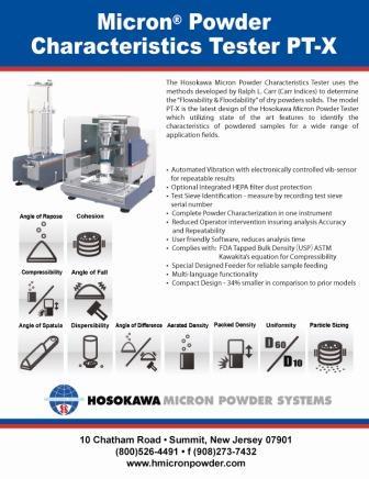Micron® Powder Characteristics Tester P