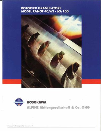 Rotoplex Granulators Models 40-63-63-100