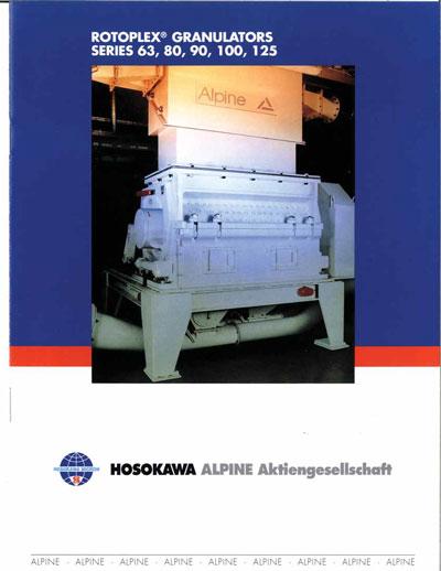 Rotoplex Granulators Models 63-90-100-12